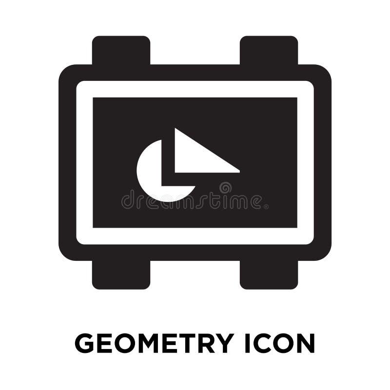 Διάνυσμα εικονιδίων γεωμετρίας που απομονώνεται στο άσπρο υπόβαθρο, έννοια λογότυπων διανυσματική απεικόνιση