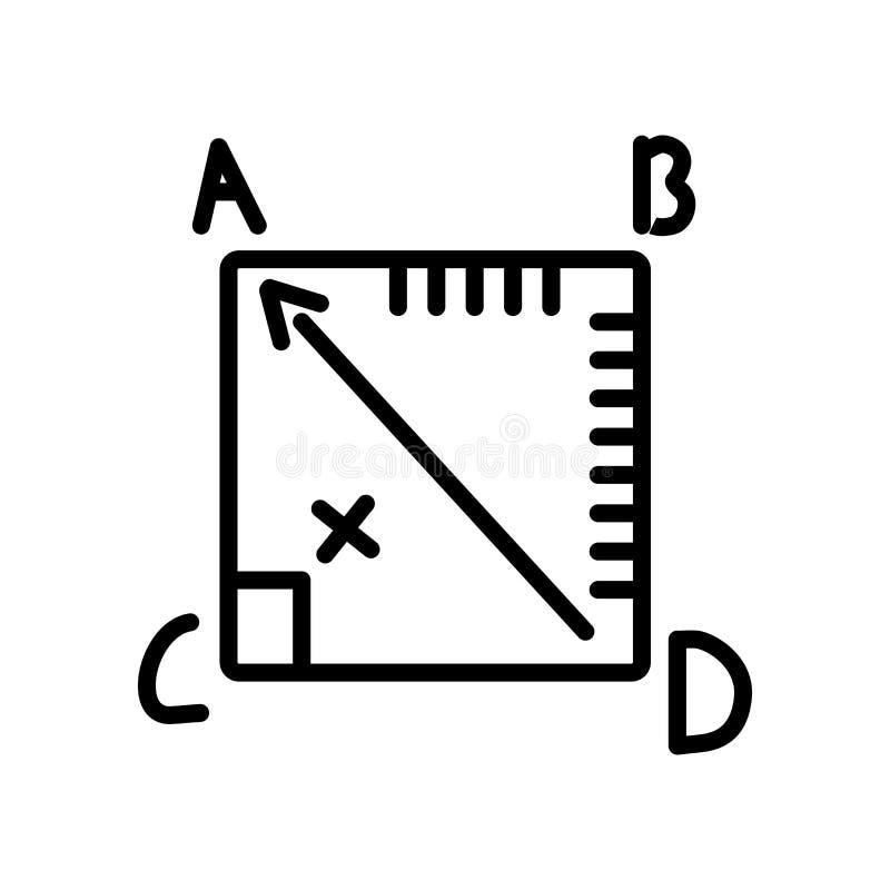 Διάνυσμα εικονιδίων γεωμετρίας που απομονώνεται στο άσπρο υπόβαθρο, σημάδι γεωμετρίας ελεύθερη απεικόνιση δικαιώματος