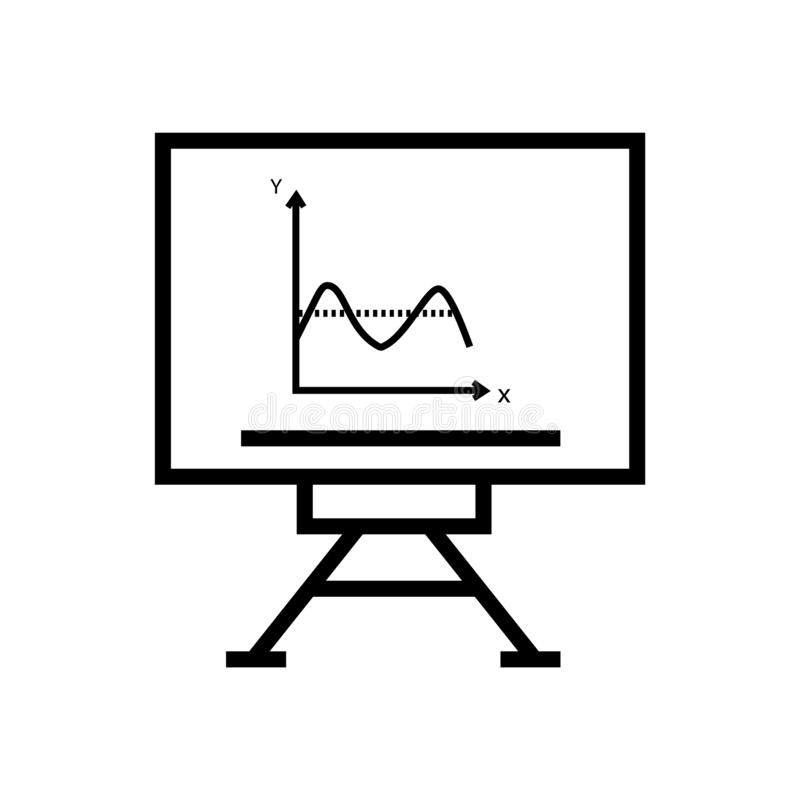 Διάνυσμα εικονιδίων γραψίματος Whiteboard που απομονώνεται στο άσπρο υπόβαθρο, το σημάδι γραψίματος Whiteboard, το γραμμικά σύμβο απεικόνιση αποθεμάτων