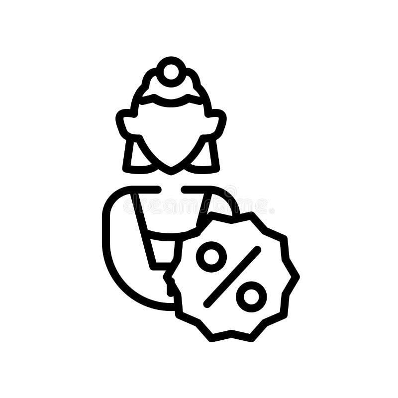 Διάνυσμα εικονιδίων γυναικών που απομονώνεται στο άσπρο υπόβαθρο, το σημάδι γυναικών, το σύμβολο γραμμών ή το γραμμικό σχέδιο στο ελεύθερη απεικόνιση δικαιώματος