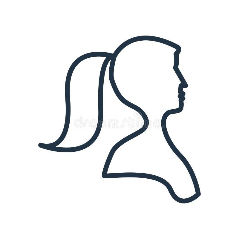 Διάνυσμα εικονιδίων γυναικών που απομονώνεται στο άσπρο υπόβαθρο, σημάδι γυναικών απεικόνιση αποθεμάτων