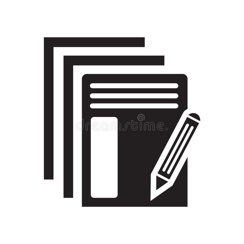 Διάνυσμα εικονιδίων εγγράφου που απομονώνεται στο άσπρο υπόβαθρο, σημάδι εγγράφου διανυσματική απεικόνιση