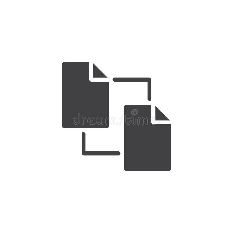 Διάνυσμα εικονιδίων εγγράφων αρχείων αντιγράφων διανυσματική απεικόνιση