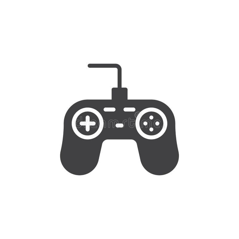 Διάνυσμα εικονιδίων ελεγκτών παιχνιδιών απεικόνιση αποθεμάτων