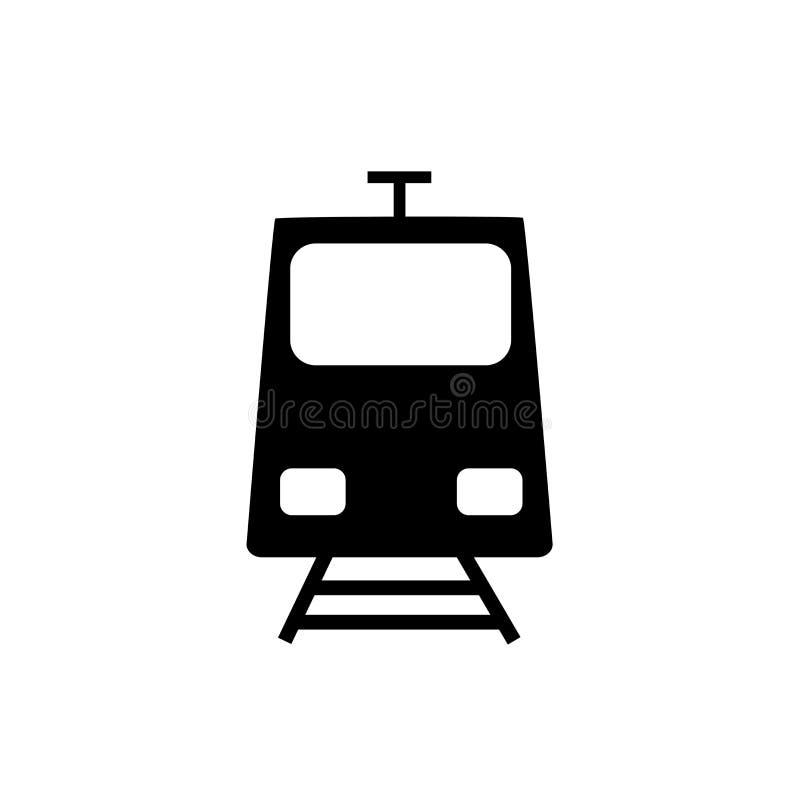 Διάνυσμα εικονιδίων ετικετών στάσεων τραμ που απομονώνεται στο άσπρο υπόβαθρο, σημάδι ετικετών στάσεων τραμ διανυσματική απεικόνιση