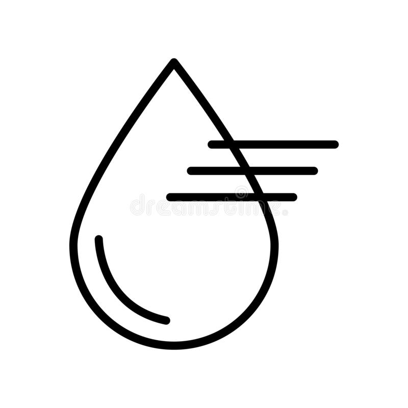 Διάνυσμα εικονιδίων θαμπάδων που απομονώνεται στο άσπρο υπόβαθρο, σημάδι θαμπάδων απεικόνιση αποθεμάτων