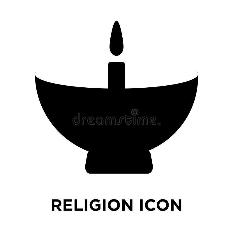 Διάνυσμα εικονιδίων θρησκείας που απομονώνεται στο άσπρο υπόβαθρο, έννοια λογότυπων ελεύθερη απεικόνιση δικαιώματος