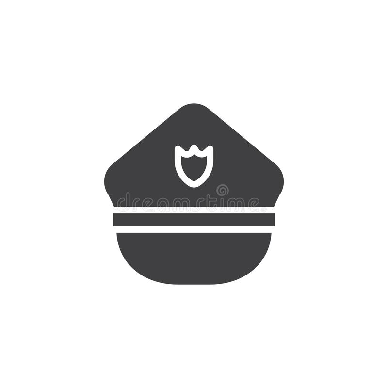 Διάνυσμα εικονιδίων καπέλων αστυνομίας απεικόνιση αποθεμάτων