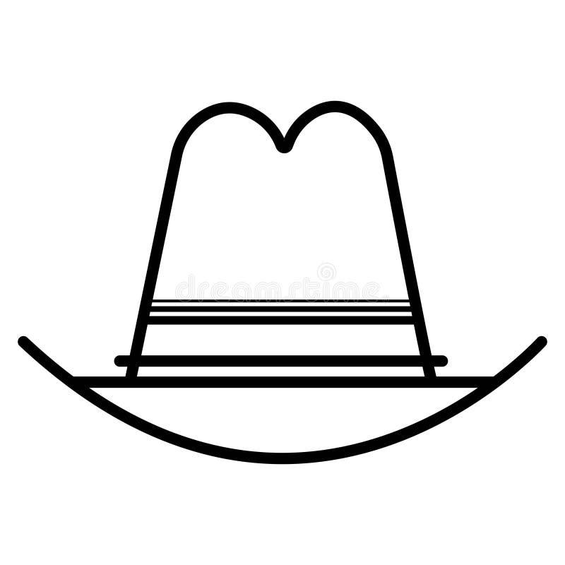 Διάνυσμα εικονιδίων καπέλων κάουμποϋ απεικόνιση αποθεμάτων