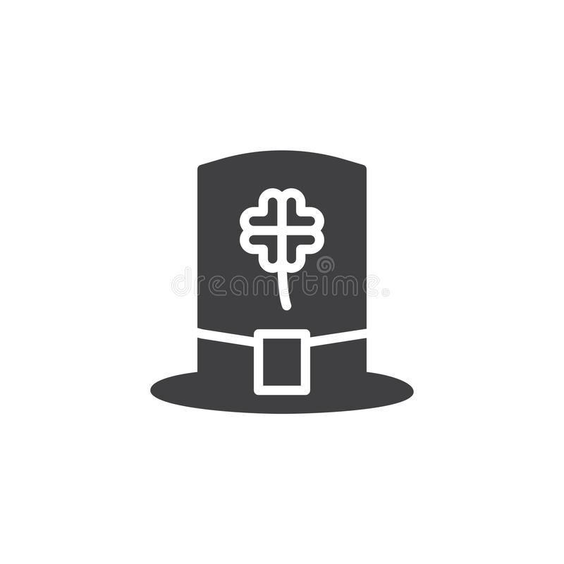 Διάνυσμα εικονιδίων καπέλων Leprechaun απεικόνιση αποθεμάτων