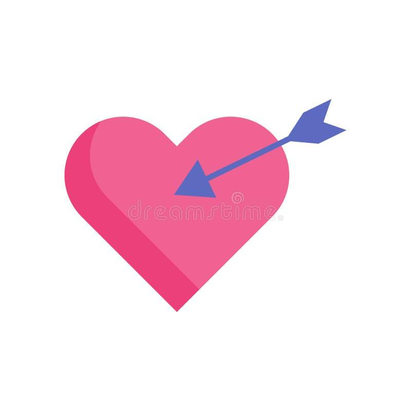 Διάνυσμα εικονιδίων καρδιών που απομονώνεται στο άσπρο υπόβαθρο, σημάδι καρδιών, σύμβολα ερώτησης διανυσματική απεικόνιση
