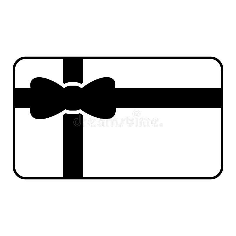 Διάνυσμα εικονιδίων καρτών δώρων, σύμβολο απεικόνισης αποδείξεων Λογότυπο κιβωτίων δώρων ελεύθερη απεικόνιση δικαιώματος