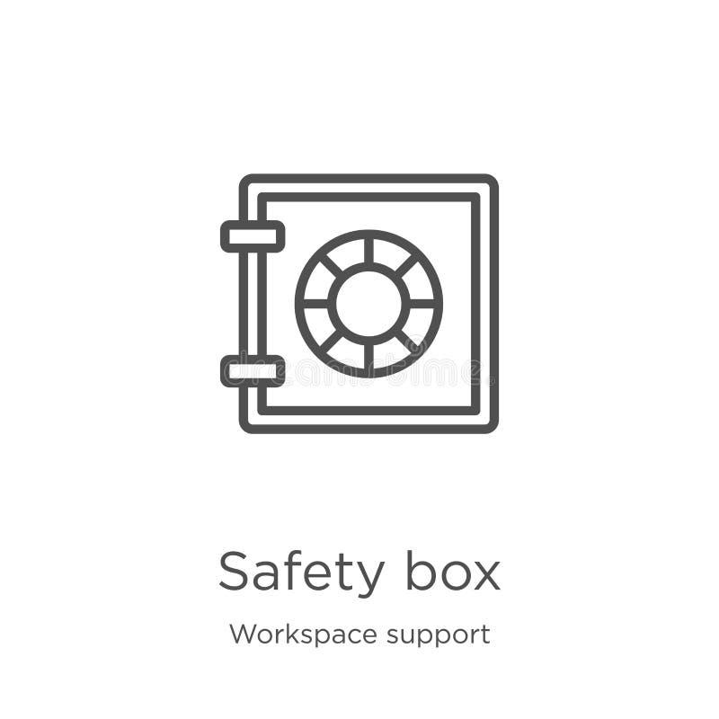 διάνυσμα εικονιδίων κιβωτίων ασφάλειας από τη συλλογή υποστήριξης χώρου εργασίας Λεπτή διανυσματική απεικόνιση εικονιδίων περιλήψ ελεύθερη απεικόνιση δικαιώματος