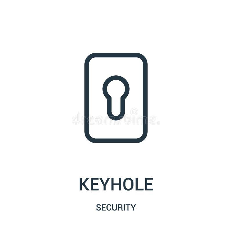 διάνυσμα εικονιδίων κλειδαροτρυπών από τη συλλογή ασφάλειας Λεπτή διανυσματική απεικόνιση εικονιδίων περιλήψεων κλειδαροτρυπών γρ διανυσματική απεικόνιση