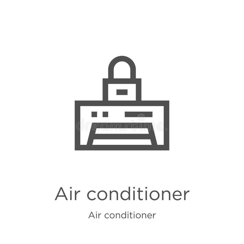διάνυσμα εικονιδίων κλιματιστικών μηχανημάτων από τη συλλογή κλιματιστικών μηχανημάτων Λεπτή διανυσματική απεικόνιση εικονιδίων π απεικόνιση αποθεμάτων