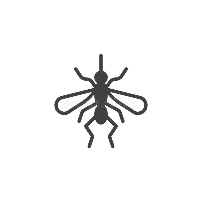 Διάνυσμα εικονιδίων κουνουπιών ελεύθερη απεικόνιση δικαιώματος