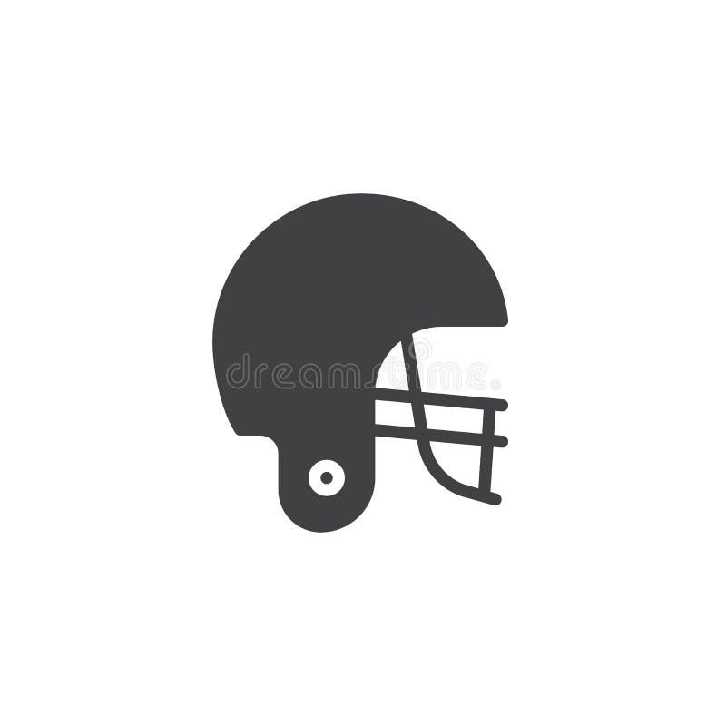 Διάνυσμα εικονιδίων κρανών αμερικανικού ποδοσφαίρου ελεύθερη απεικόνιση δικαιώματος