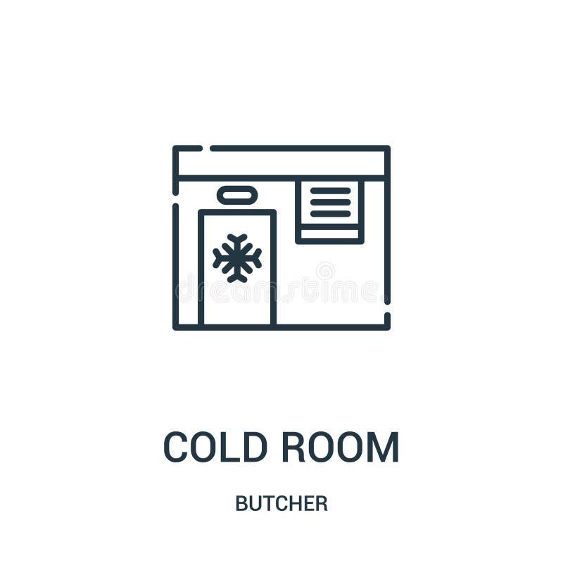 διάνυσμα εικονιδίων κρύων δωματίων από τη συλλογή χασάπηδων Λεπτή διανυσματική απεικόνιση εικονιδίων περιλήψεων κρύων δωματίων γρ διανυσματική απεικόνιση