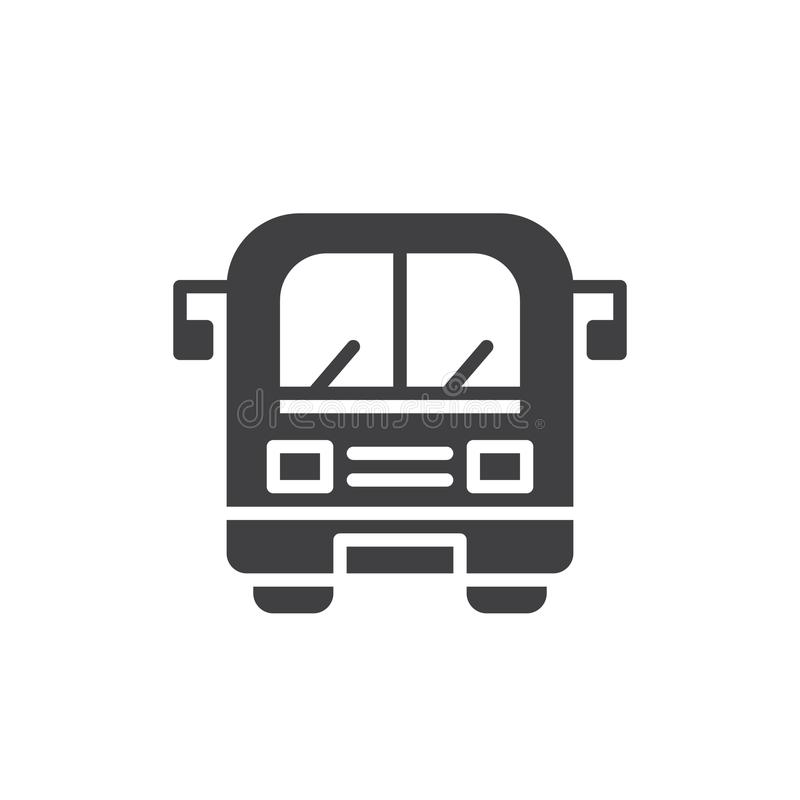 Διάνυσμα εικονιδίων λεωφορείων απεικόνιση αποθεμάτων