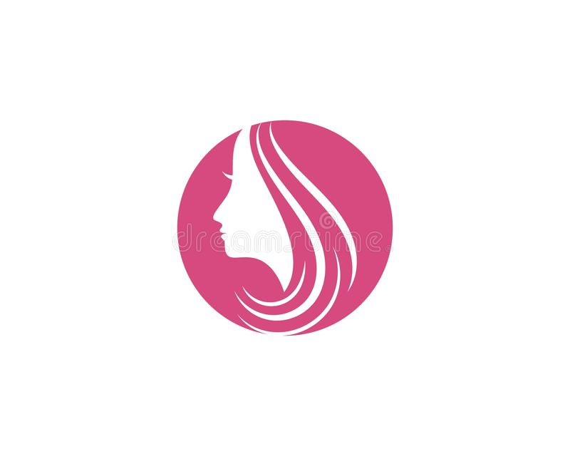 διάνυσμα εικονιδίων λογότυπων απεικόνισης χαρακτήρα σκιαγραφιών προσώπου γυναικών απεικόνιση αποθεμάτων