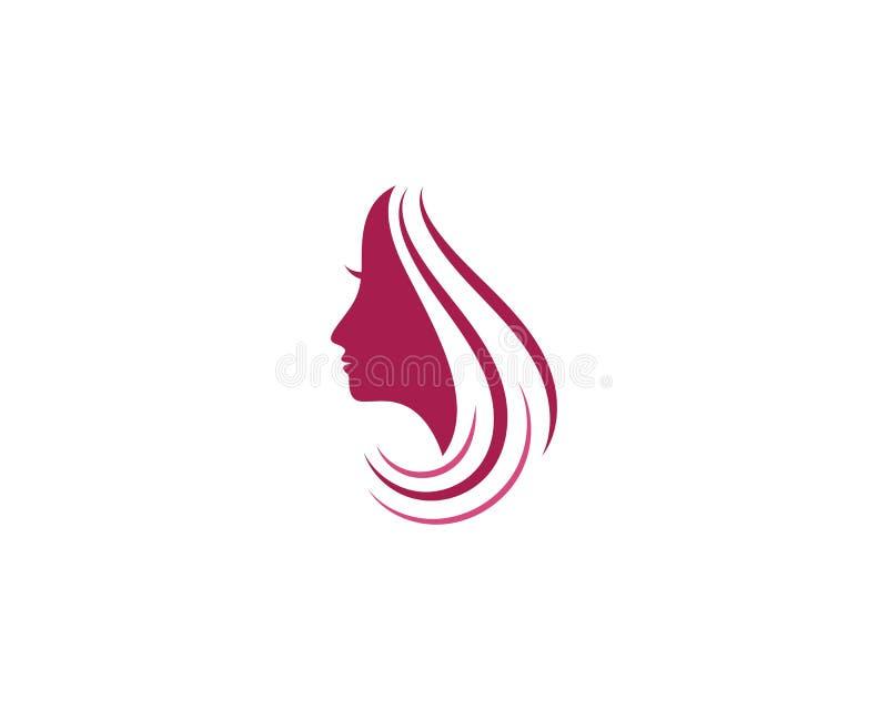 διάνυσμα εικονιδίων λογότυπων απεικόνισης χαρακτήρα σκιαγραφιών προσώπου γυναικών διανυσματική απεικόνιση