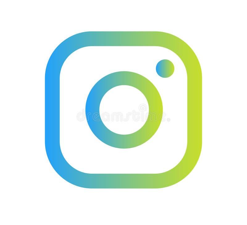 Διάνυσμα εικονιδίων λογότυπων καμερών Instagram με τη σύγχρονη απεικόνιση σχεδίου κλίσης διανυσματική απεικόνιση