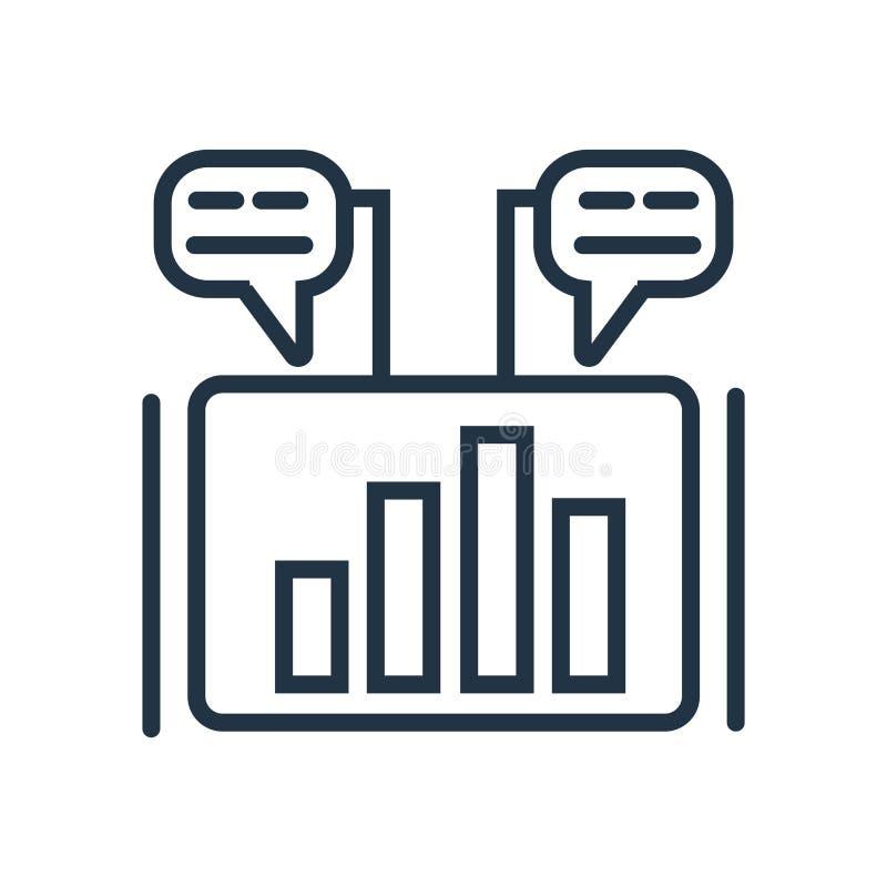 Διάνυσμα εικονιδίων μάρκετινγκ που απομονώνεται στο άσπρο υπόβαθρο, σημάδι μάρκετινγκ διανυσματική απεικόνιση