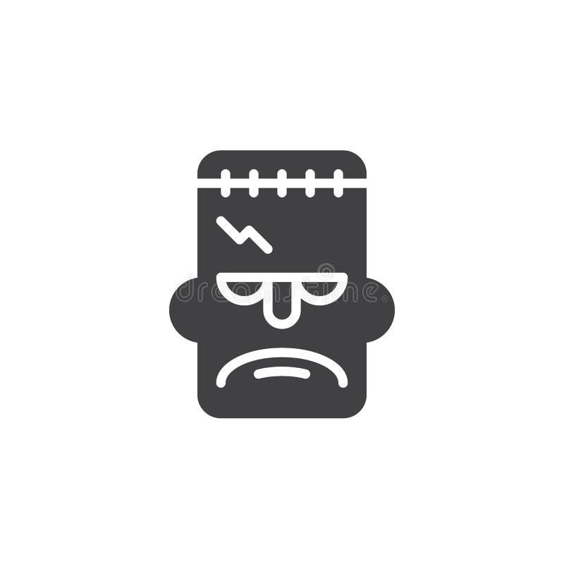 Διάνυσμα εικονιδίων μασκών Frankenstein ελεύθερη απεικόνιση δικαιώματος