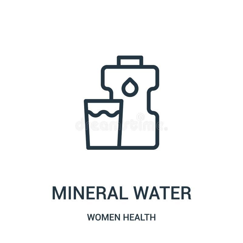 διάνυσμα εικονιδίων μεταλλικού νερού από τη συλλογή υγείας γυναικών Λεπτή διανυσματική απεικόνιση εικονιδίων περιλήψεων μεταλλικο απεικόνιση αποθεμάτων