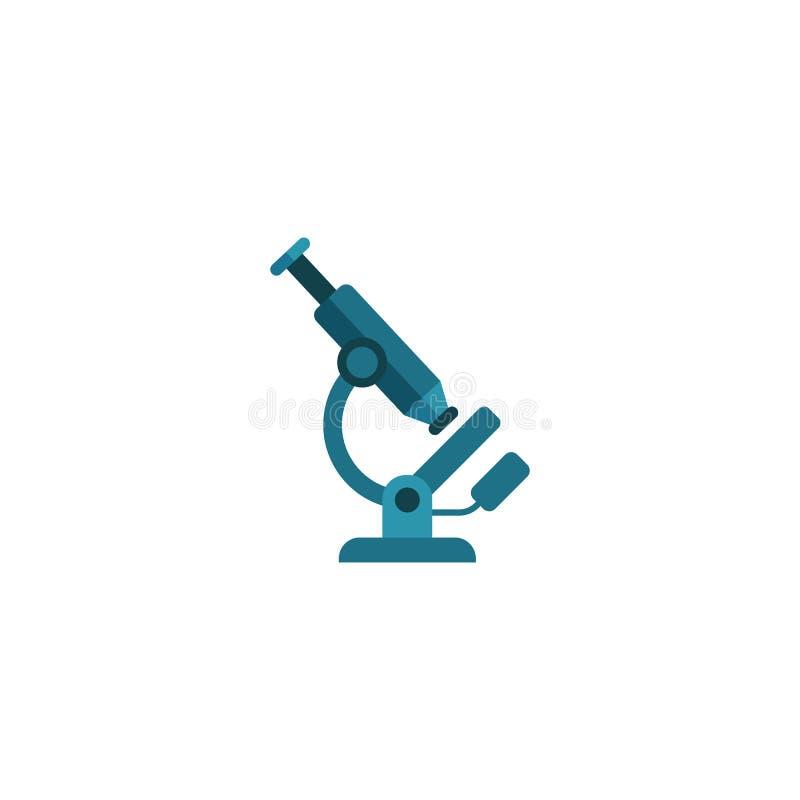 Διάνυσμα εικονιδίων μικροσκοπίων, απεικόνιση ερευνητικών στερεά λογότυπων, colorf ελεύθερη απεικόνιση δικαιώματος