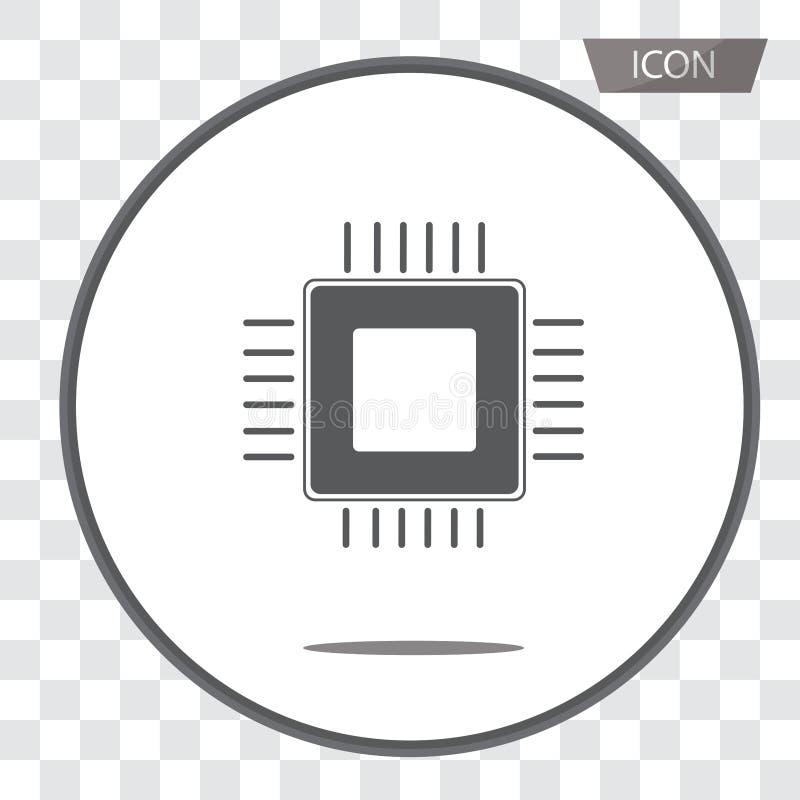 Διάνυσμα εικονιδίων μονάδων διανυσματικής, κεντρικής επεξεργασίας εικονιδίων ΚΜΕ που απομονώνεται επάνω απεικόνιση αποθεμάτων
