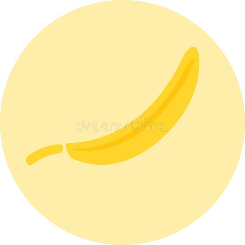 Διάνυσμα εικονιδίων μπανανών στοκ εικόνα