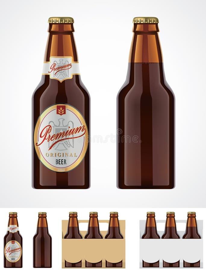 διάνυσμα εικονιδίων μπουκαλιών μπύρας ελεύθερη απεικόνιση δικαιώματος