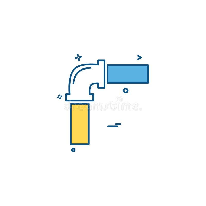 διάνυσμα εικονιδίων νερού εργασίας εργασίας σωλήνων απεικόνιση αποθεμάτων