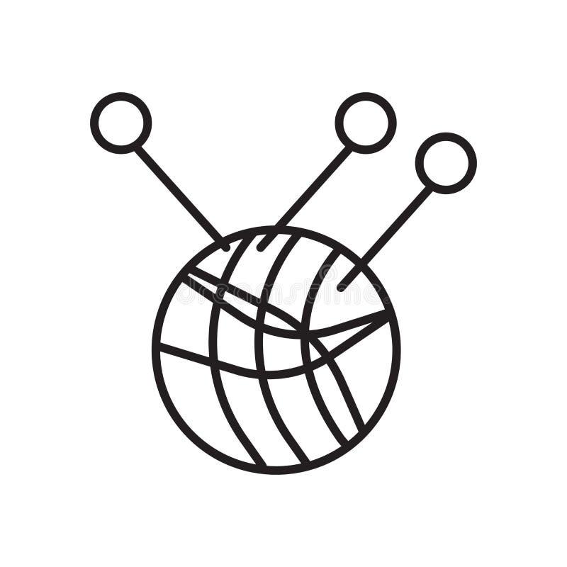 Διάνυσμα εικονιδίων νημάτων που απομονώνεται στο άσπρο υπόβαθρο, το σημάδι νημάτων, το σημάδι και τα σύμβολα στο λεπτό γραμμικό ύ απεικόνιση αποθεμάτων