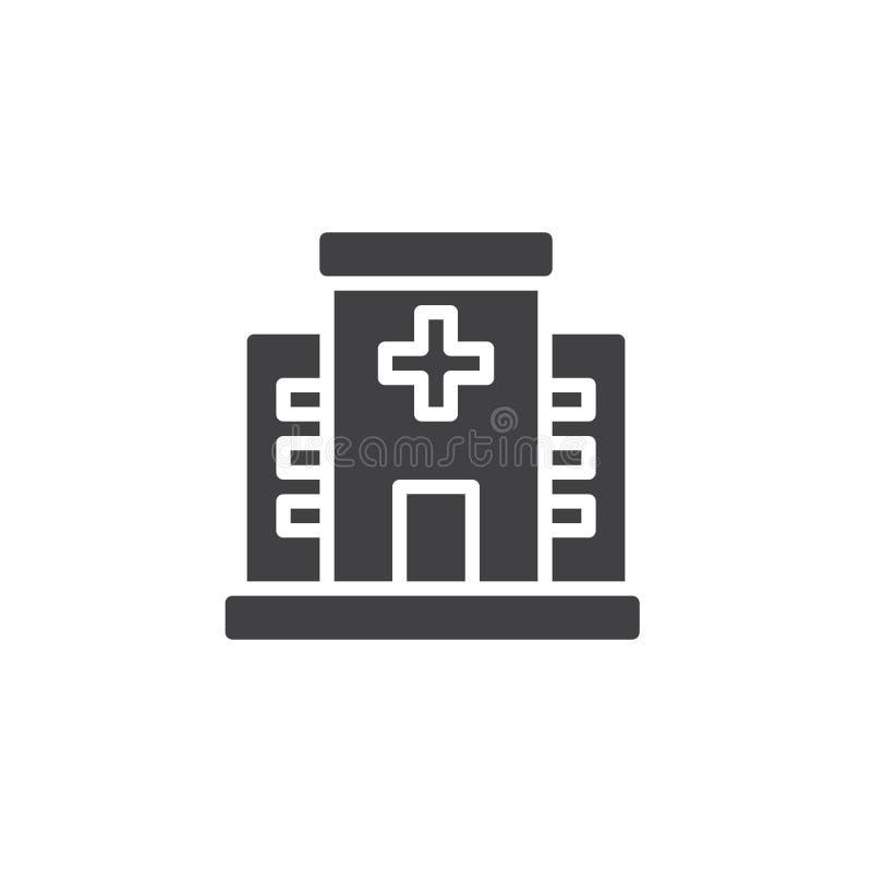 Διάνυσμα εικονιδίων νοσοκομείων ελεύθερη απεικόνιση δικαιώματος