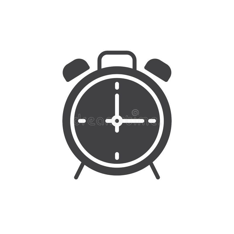 Διάνυσμα εικονιδίων ξυπνητηριών ελεύθερη απεικόνιση δικαιώματος