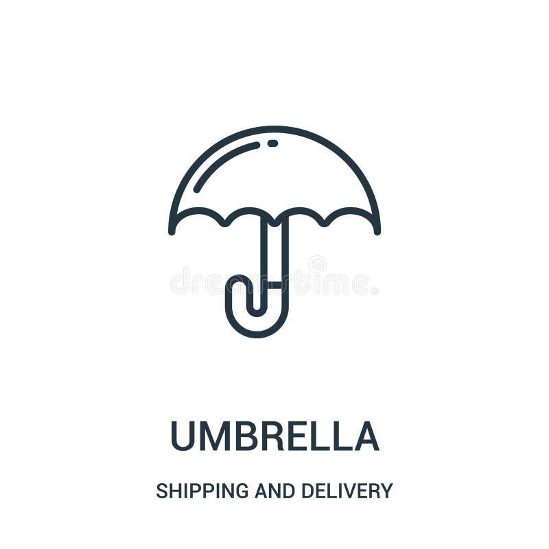 διάνυσμα εικονιδίων ομπρελών από τη ναυτιλία και τη συλλογή παράδοσης Λεπτή διανυσματική απεικόνιση εικονιδίων περιλήψεων ομπρελώ απεικόνιση αποθεμάτων