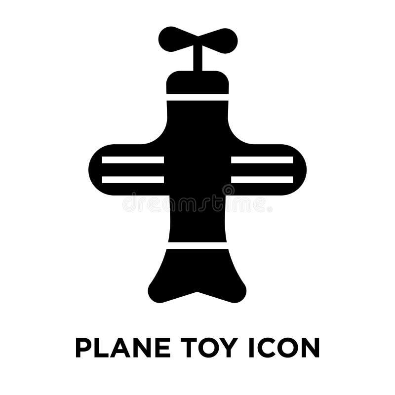 Διάνυσμα εικονιδίων παιχνιδιών αεροπλάνων που απομονώνεται στο άσπρο υπόβαθρο, έννοια λογότυπων ελεύθερη απεικόνιση δικαιώματος