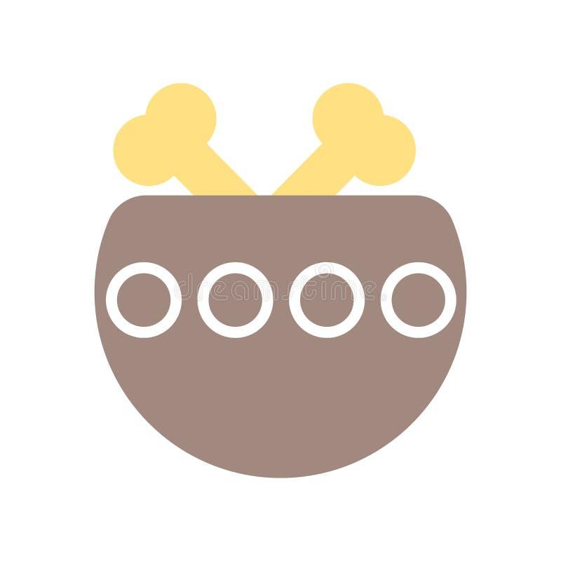 Διάνυσμα εικονιδίων πιάτων που απομονώνεται στο άσπρο υπόβαθρο, σημάδι πιάτων, ιστορικά σύμβολα εποχής του λίθου ελεύθερη απεικόνιση δικαιώματος