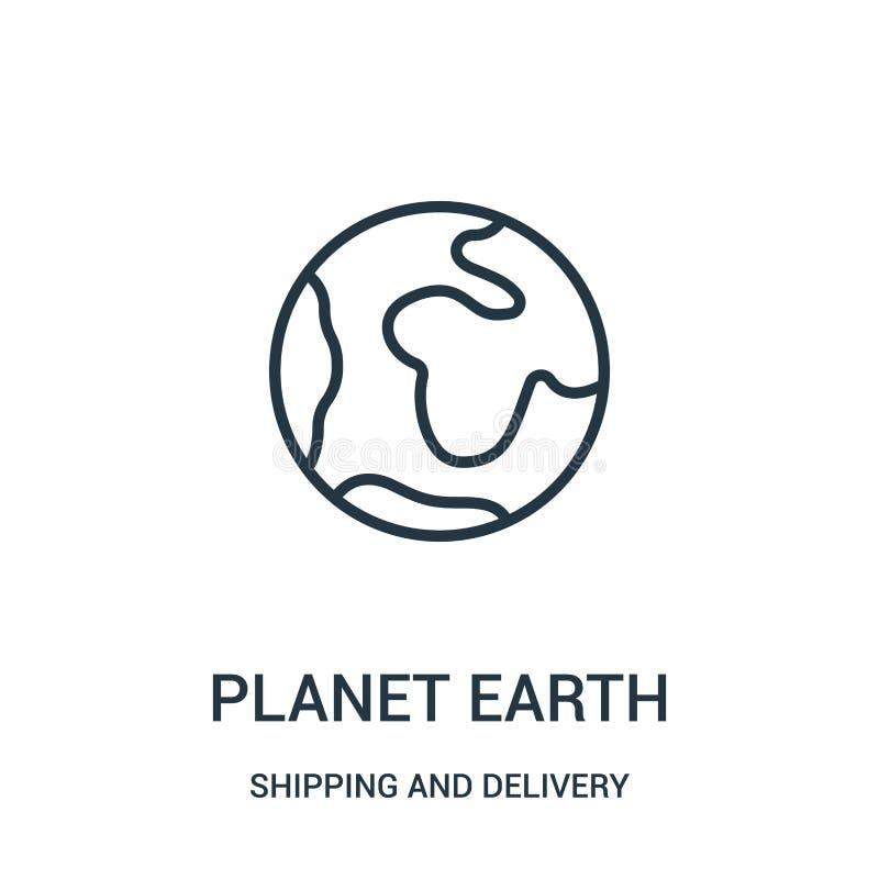 διάνυσμα εικονιδίων πλανήτη Γη από τη ναυτιλία και τη συλλογή παράδοσης Λεπτή διανυσματική απεικόνιση εικονιδίων περιλήψεων πλανή διανυσματική απεικόνιση