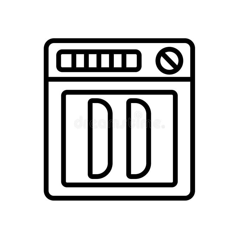 Διάνυσμα εικονιδίων πλυντηρίων πιάτων που απομονώνεται στο άσπρο υπόβαθρο, σημάδι πλυντηρίων πιάτων ελεύθερη απεικόνιση δικαιώματος