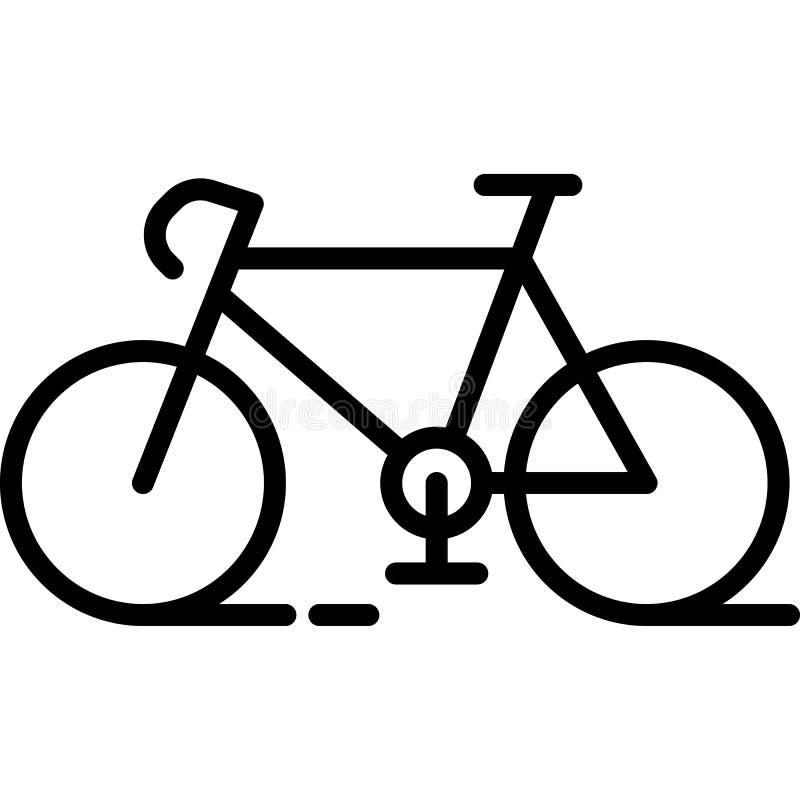 Διάνυσμα εικονιδίων ποδηλάτων διανυσματική απεικόνιση