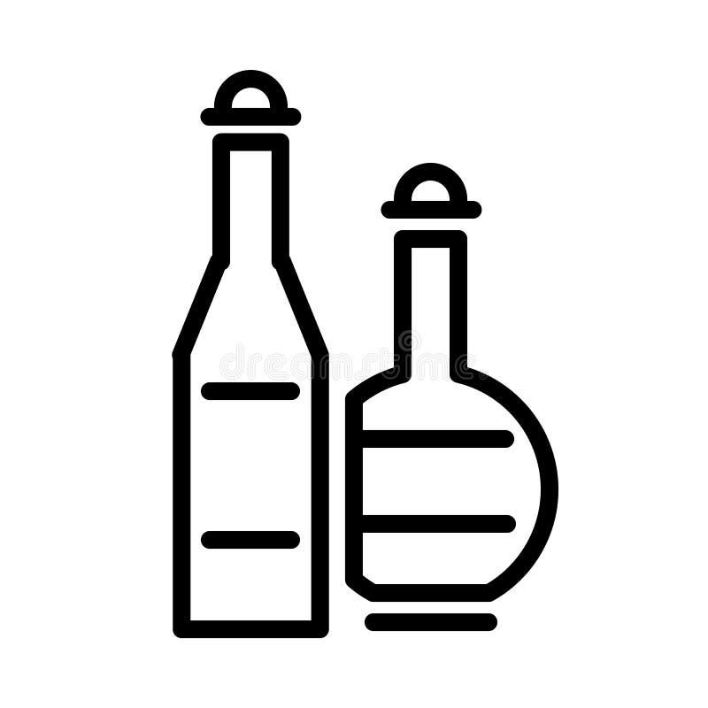 Διάνυσμα εικονιδίων ποτών οινοπνεύματος διανυσματική απεικόνιση