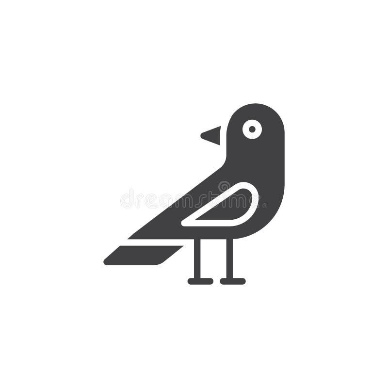 Διάνυσμα εικονιδίων πουλιών κορακιών διανυσματική απεικόνιση