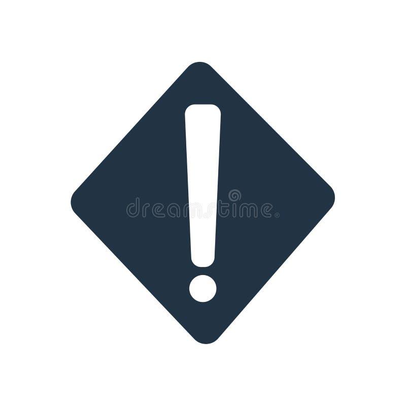 Διάνυσμα εικονιδίων προειδοποίησης που απομονώνεται στο άσπρο υπόβαθρο, προειδοποιητικό σημάδι απεικόνιση αποθεμάτων