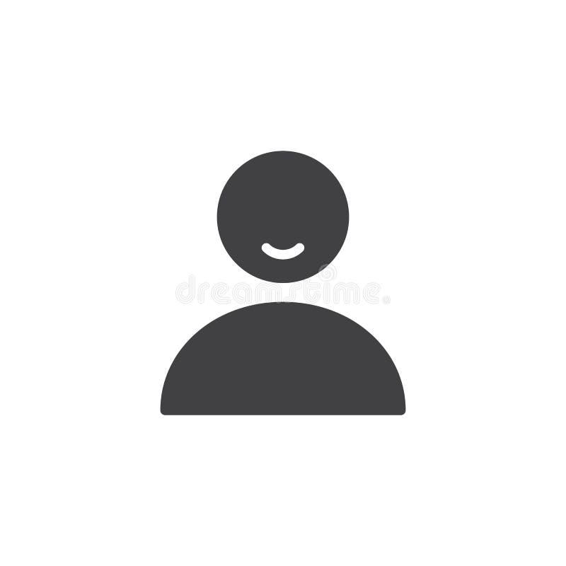 Διάνυσμα εικονιδίων προσώπων χρηστών διανυσματική απεικόνιση
