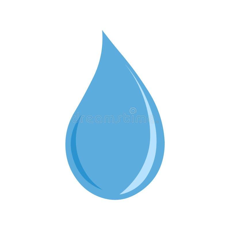 Διάνυσμα εικονιδίων πτώσης νερού διανυσματική απεικόνιση