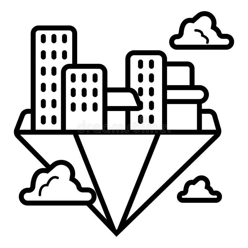 Διάνυσμα εικονιδίων πόλεων διανυσματική απεικόνιση