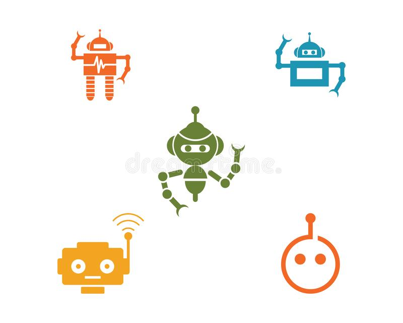 Διάνυσμα εικονιδίων ρομπότ ελεύθερη απεικόνιση δικαιώματος